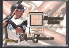 ALEX GONZALEZ 2001 FLEER SHOWCASE STICKS GAME USED BAT FLORIDA MARLINS SP $15