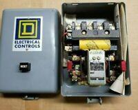 Square D 8536CG-4 Ser. B Size 1 Starter w/ Enclosure 120 Volt Coil