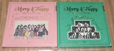 TWICE 1st Album Repackage Merry & Happy VER. 2 CD + PHOTOCARD + 2 POSTER IN TUBE