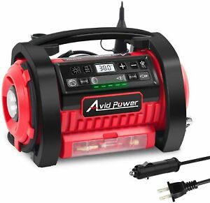 ⛽Avid Power Tire Inflator Air Compressor 12V DC 110V AC Dual power tire Pump w