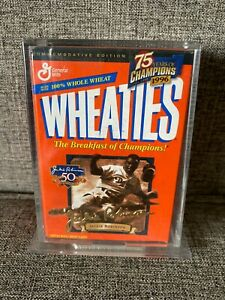 1996 Wheaties 75 years of Champions Gold Signature Mini Box Jackie Robinson