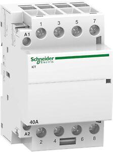 SCHNEIDER 4 Pole 40A Contactor Acti9 | A9C20844 RS 791-2981 | 240VAC | Inc.VAT