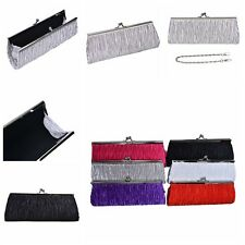 Lady Satin Wedding Party Bridal Evening Party Club Clutch Purse Bag Handbag 3C