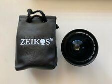 Zeikos Camera Fisheye Lens Professional HD MK II 2 DSLR 40X Macro Case Canon