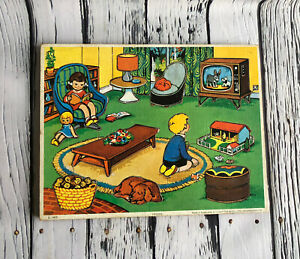 Vintage Picture Puzzle Kids Living Room 1972 Leisure Made in England Mid Century
