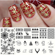 Nail Art Stamping Plate Xmas Snowflake Image Stamp Template BP-L032 BORN PRETTY