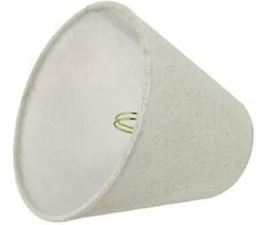 "Aspen Creative 32038 Empire Oatmeal  3"" x 6"" x 5"" Chandelier Clip-On Lamp Shade"