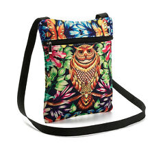 National Printed Owl Tote Bags Women Soft  Shoulder Bag Handbags Postman Package