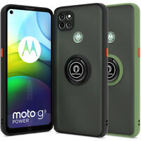 CoverON Phone Cover For Motorola Moto G9 Power Ring Case Kickstand Slim Clear