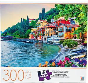 Milton Bradley Holidays in Italy 300 Large Ez Grasp Piece Family Jigsaw Puzzle
