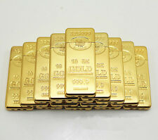 1PCS Cigarette Lighter 999 Gold Bullion Bar Butane Gas Lighter Novel Gift GL18