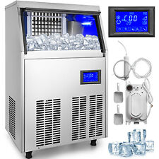 Ice Cube Maker Machine 70Kg/155Lbs Automatic Dewatering Pump R134a Auto-control