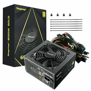 Segotep 600W ATX Gaming Computer Silent Power Supply 80Plus Gold Certified PSU