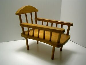 DOLL WOODEN BED CHAIR