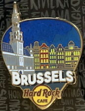 """Hard Rock Cafe BRUSSELS 2017 """"GREETINGS FROM"""" Series PIN Guitar Pick City Icons"""