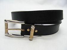 Negro - Piel Sintética - Talla 14-2.2cm Cinturón