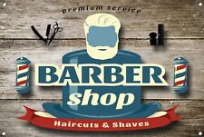 Barber Shop Letrero metal Decor Decoración De Pared Placas 1035