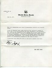 "1973 Vintage US Senate Form Letter Re: ""Genocide Treaty"" & ""Genocide Convention"""