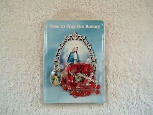 "Autone "" NIP "" ? # D1160 How To Pray The Rosary Necklace And Extra Pendant"