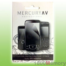Mercury AV Pro Screen Protector 3Pack for HTC Sensation 4G Z710 / XE Z715 Clear