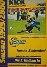 Programm 1999/00 FC Eintracht Schwerin - FC Hertha 03