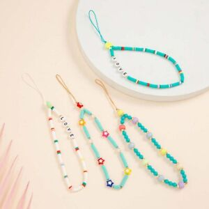 Bunte weiche Keramik-Handy-hängende Seil-Kette für Frauen-Schnüre Perlen