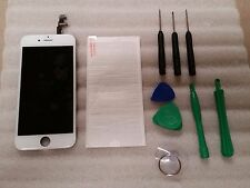 "Iphone 6 White LCD Digitizer Screen  4.7"" w/ tools & Tempered Glass"