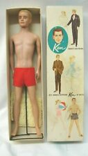 VINTAGE 1960 BARBIE'S BOYFRIEND KEN DOLL FLOCKED BLONDE HAIR #750 IN ORIG BOX