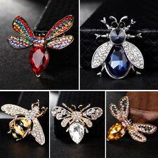 Fashion Honeybee Full Crystal Rhinestone Brooch Pin Women Lady Wedding Jewelry