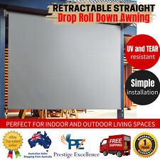3m X 2.5m Retractable Outdoor Blind Privacy Screen Garden Awning Canopy Window
