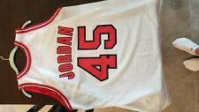 Micheal Jordan #45 Chicago Bulls NBA  Jersey Size XL White Vintage