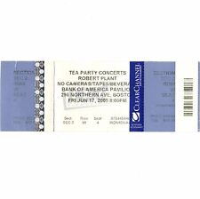 Robert Plant Concert Ticket Stub Boston Ma 6/17/05 Bank Of America Led Zeppelin