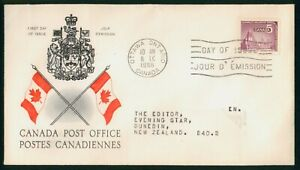 MayfairStamps Canada FDC 1966 Post Office Flags Coat of Arms Symbol First Day Co