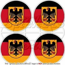 ALLEMAND Allemagne Pare-choc Casque Vinyle Sticker Autocollants 50mmx4