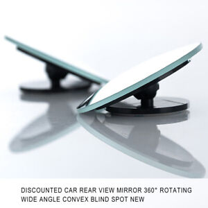 Car Rear View Mirror Adjustable 360° Rotating Wide Angle Convex Blind Spot Parts