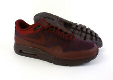 Nike men's Air Max 1 Ultra Flyknit running shoes sneakers size 10.5 Purple Red