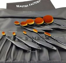 10pcs Authentic Black Beauty Toothbrush Shaped Oval Cream Puff Makeup Brush 3043