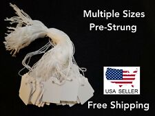 Blank White Merchandise Price Tags W Strings Largesmall Various Quantities