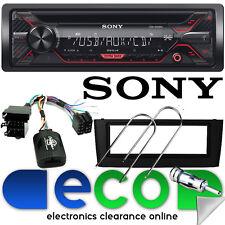 Fiat Grande Punto SONY CD MP3 USB AUX Auto Stereo & Volante Nero Fascia