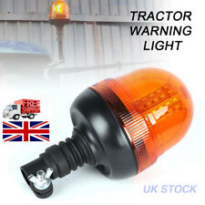 12V Rotating Amber Beacon spigot Mount Tractor Warning  led recovery Lights