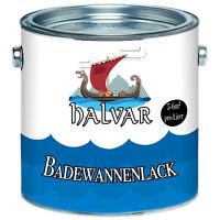 Halvar 2 K Badewannenlack Badewannenbeschichtung in Schwarz GFK 2,5kg 5kg 10kg