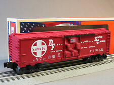 LIONEL SANTA FE BOXCAR MADE IN THE USA o gauge train sf DIE CAST TRUCKS 6-81197