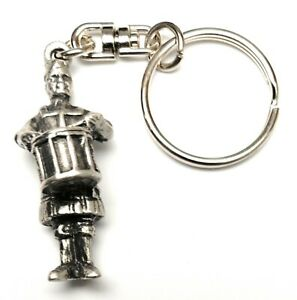 Scottish Drummer KeyRing Hand Crafted Key Ring in pouch Gift Idea 30mm