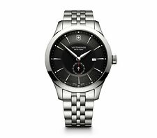 New VICTORINOX Swiss Army Alliance Black Dial Stainless Steel Men's Watch 241762