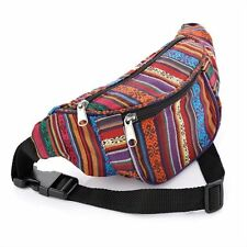 MULTI AZTEC TRIBAL BUM BAG BOHO FASHION DOG WALK HOLIDAY TRAVEL FANNY PACK