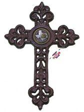 Texas Mason Cast Iron Cross with Masonic Square and Compass Concho 9 1/2 X 6 1/2