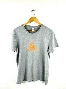 Le Coq Sportif Men's T Shirt Size L Grey Short Sleeve Crew Neck Athletic Casual