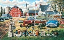 Jigsaw Puzzle Car Farm Life Yard Sale Bumper Crop 550 pieces NEW made in USA
