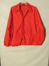 S5876 Las Mart Sportswear Adult Medium Red Snap Up Long Sleeve Windbreaker