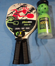 Galaxy pickleball ahora Intro Set 2 Paletas 3 bolas de interior Pickle Bola Raqueta Nuevo